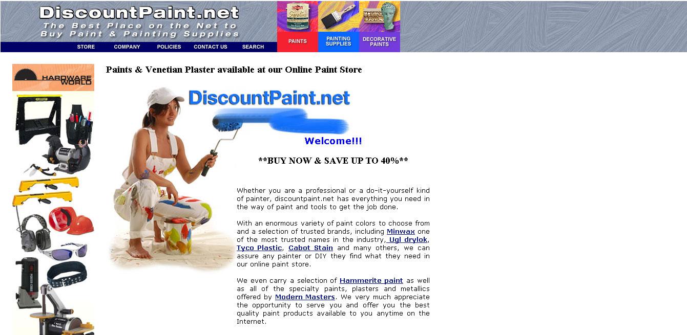 DiscountPaint.net (eCommerce)