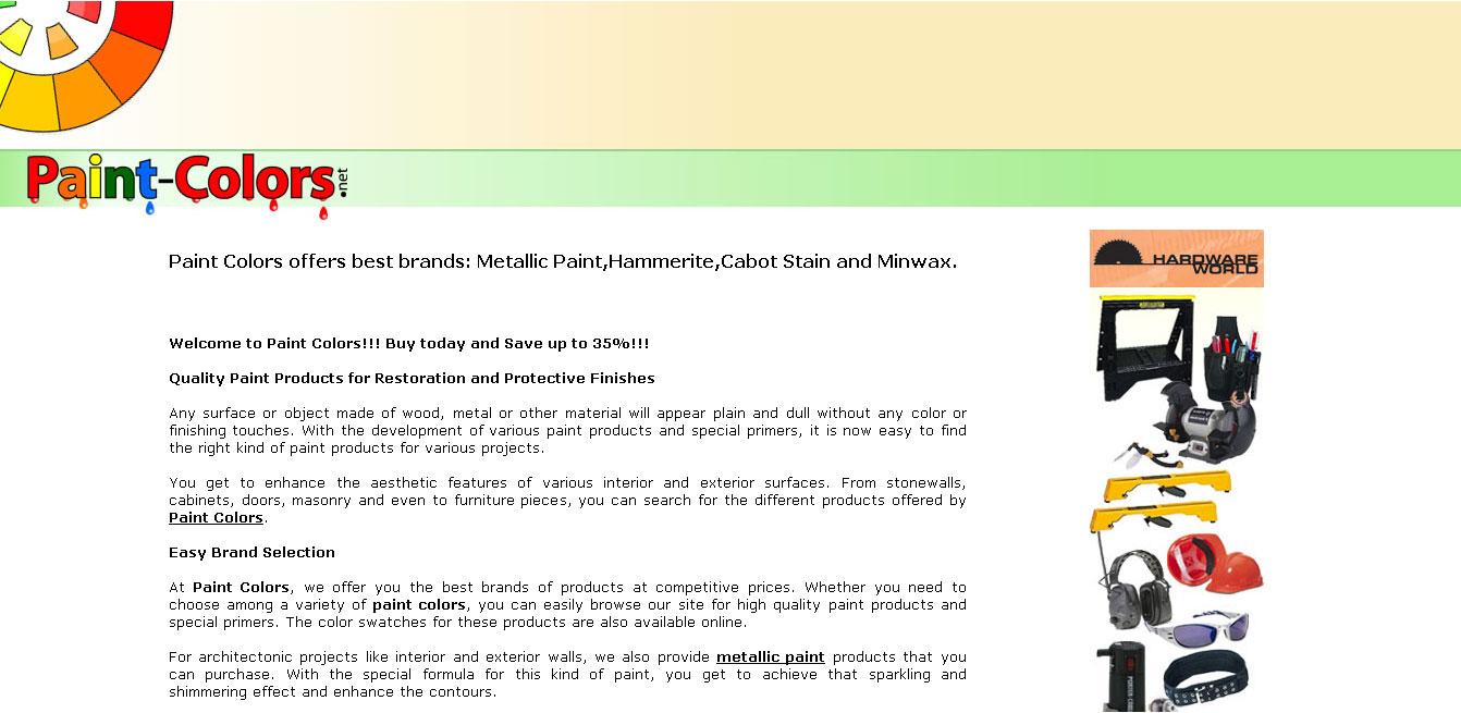 Paint-Colors.net (eCommerce)