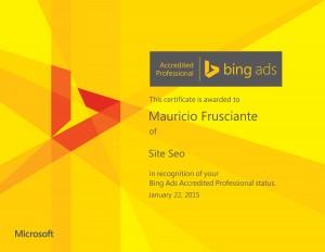 Accredited Professional Bingads-Mauricio Frusciante-Miami-Aventura