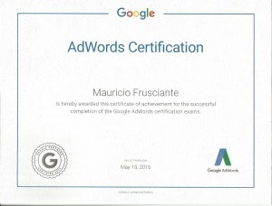 Google Adwords Certification-Mauricio Frusciante-Miami-Aventura