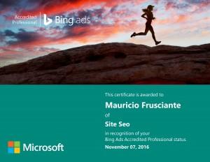 Bing Ads Certification-Mauricio Frusciante-Miami-Aventura-2016