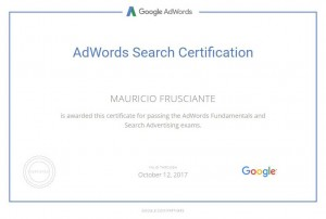 Google Adwords Search Certification-Mauricio Frusciante-Miami-Aventura-2017