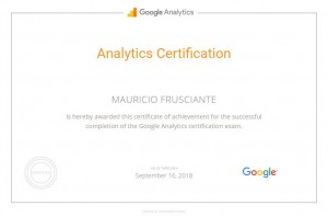 Google Analytics Certification-Mauricio Frusciante-Miami-Aventura-2017