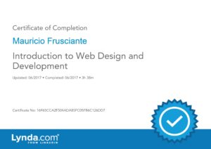 Introduction to Web Design and Development Certificate-Mauricio Frusciante-Miami-FL