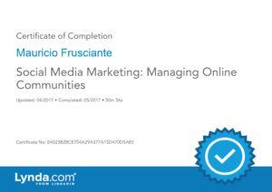 Social Media Marketing Certificate-Mauricio Frusciante-Miami-Aventura-Fort Lauderdale