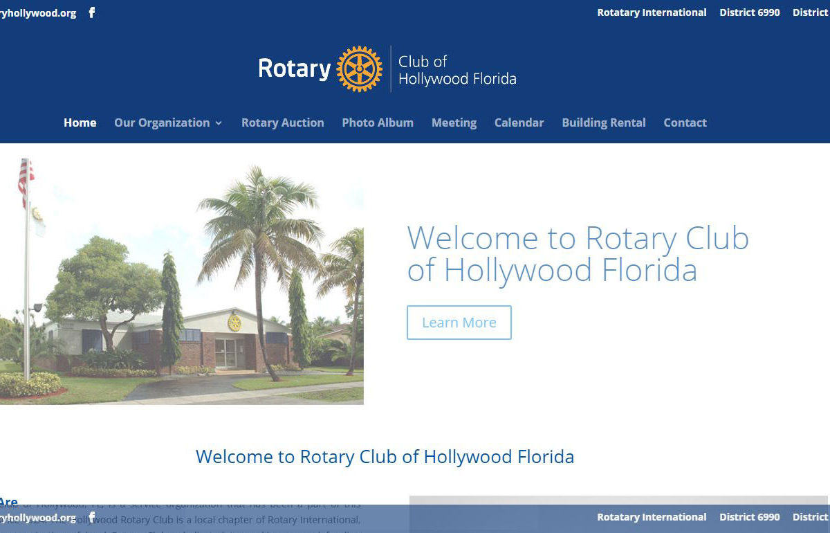 Web Design-RotaryHollywood-Hollywood-FL