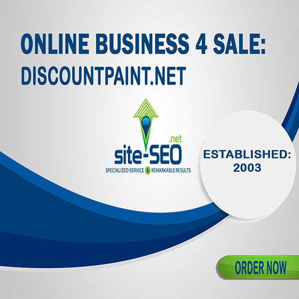 Online Business 4 Sale-DiscountPaint-Order Now and Save up to 20%