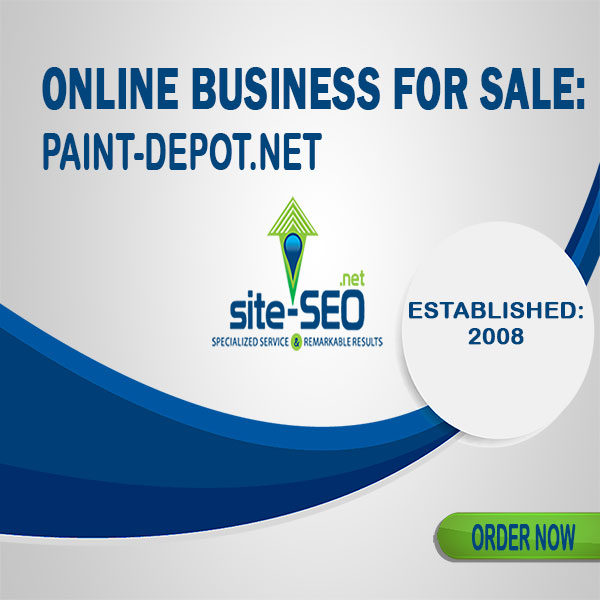 Online Business For Sale-Paint_Depot
