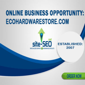 Online Business Opportunity-EcoHardwareStore-Order Now and Save up to 20%