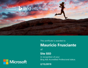 Bing Ads Certification-Mauricio Frusciante-Miami-Fort Lauderdale-Florida