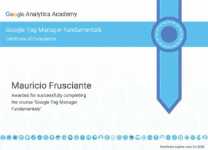 Google Tag Manager Fundamentals Certification-Mauricio Frusciante