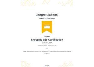 Google Adwords-Shopping Certification-Mauricio Frusciante-Miami-Florida-2021