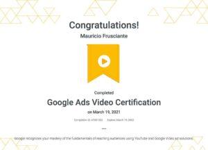 Google Adwords Video Certification-Mauricio Frusciante-Miami-Florida-2021